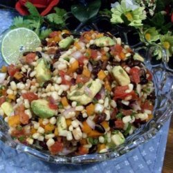 Fresh Salsa With Avocado and Black Beans recipe