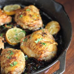 Chicken Thighs With Lemon and Garlic recipe