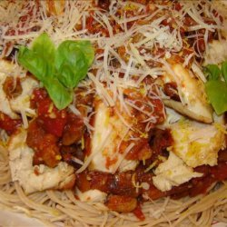 Sicilian Lemon Chicken With Raisin-Tomato Sauce recipe