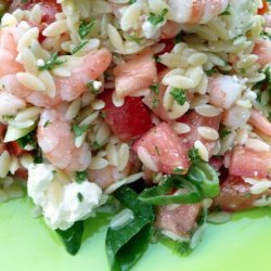 Shrimp, Feta, and Orzo Salad recipe
