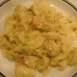 Cheesy Baked Tortellini With Salmon recipe