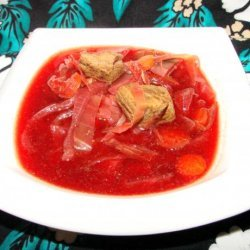 Beef, Beet and Cabbage Soup (Crock Pot and Ww) recipe