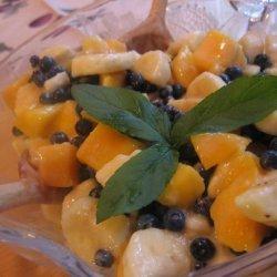Mango, Banana and Blueberry Salad recipe