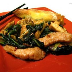 Pork With Spinach Stir Fry recipe