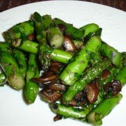 Asparagus and Mushroom Saute With Cilantro recipe