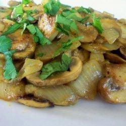 Sauteed Curried Mushrooms recipe