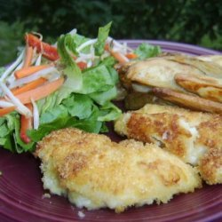 Crumbed Chicken With Potato Wedges recipe