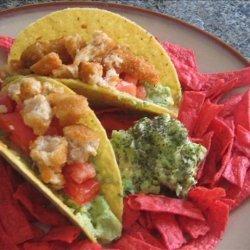 5 Minute Easy Vegan   Chicken  Guacamole Tacos recipe