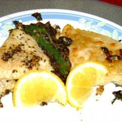 Catfish With Mushroom and Spinach Stuffing recipe