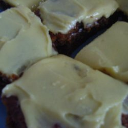 Fruit Cake Slice With Lemon Icing. recipe