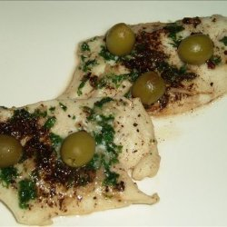 Sea Bream Fillets With Olives En Papillote recipe