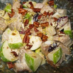 Chicken Salad With Fruit and Toasted Pecans recipe