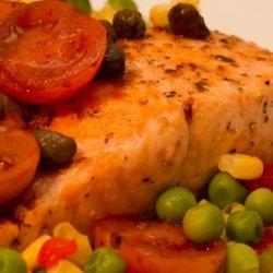 Salmon With Tomato Vinaigrette recipe