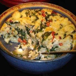 Savory Asparagus Bread Pudding recipe