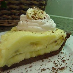 Old-Fashioned Banana Cream Pie With Chocolate Pastry recipe