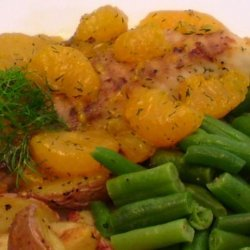 Fish With Mandarin and Dill Sauce recipe