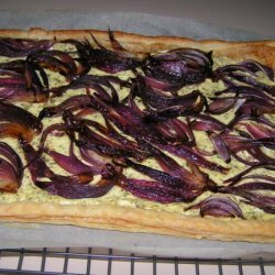 Red Onion, Goat Cheese and Basil Tart recipe