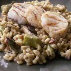 Barley Risotto With Asparagus and Shiitakes recipe