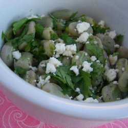 Low Fat Fava Beans With Parsley and Feta recipe