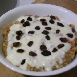 Carrot Cake Oatmeal With Cream Cheese Frosting recipe