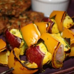 Marinated Chicken Brochettes recipe