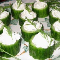 Cucumber Cups With Horseradish recipe