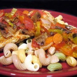 Creamy Chicken or Pork Cacciatore in Crock Pot recipe