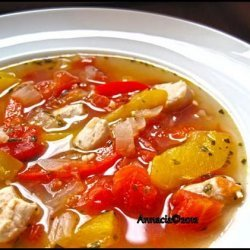 Mexican Chicken and Bell Pepper Soup recipe