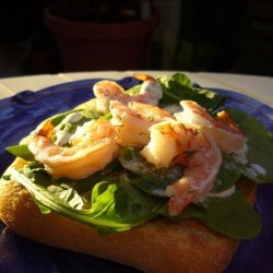 Prawn and Lime Mayonnaise Open Sandwich recipe