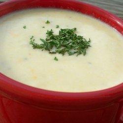 Cheesy Onion and Potato Soup recipe