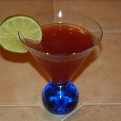 A Berry Lime Martini recipe