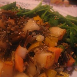 Wild Rice-Sweet Potato Salad With Pears recipe