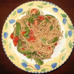 Tomato and Bell Pepper Spaghetti recipe