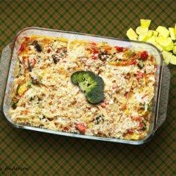 Vegetarian Noodle Casserole recipe