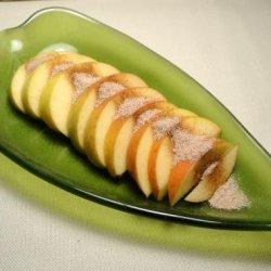 Apple Slices With Cinnamon Sugar recipe