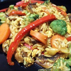 Scrambled Tofu With Veg and Basmati Rice recipe
