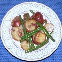 Pan Sauteed Potatoes & Green Beans recipe