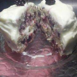 Blackberry Velvet Cake With Cream Cheese Icing recipe