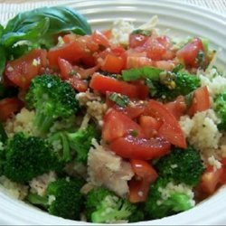 Chicken and Broccoli Couscous With Salsa recipe