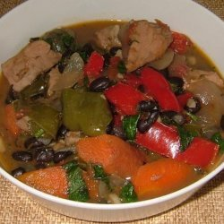 Turkey and Black Bean Stew recipe