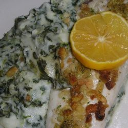 Fish and Chip Bake With Spinach and Sour Cream recipe