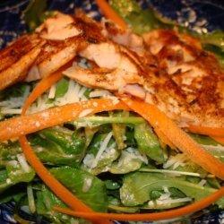 Salmon and Arugula Salad With Dijon Vinaigrette recipe