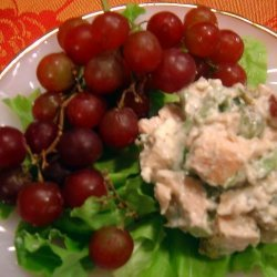 Chicken Salad With Blue Cheese and Grapes recipe