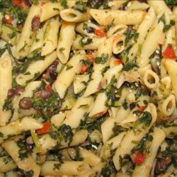 Penne With Cannellini Beans and Anchovies recipe