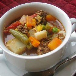 Hamburger Dump Soup recipe