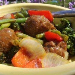 Meatless Meatball Stir Fry recipe