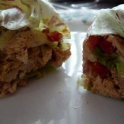 Crockpot Peanut Thai Chicken Lettuce Wraps recipe