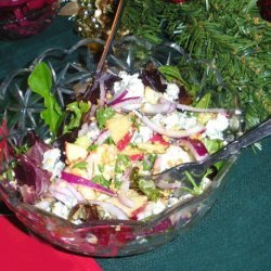 Salad With Apple, Celery, Hazelnuts and Roquefort Cheese recipe