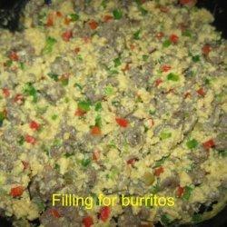 Freezer Sausage  and Egg Breakfast Burritos recipe