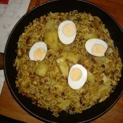 Lentils With Rice and Potato recipe